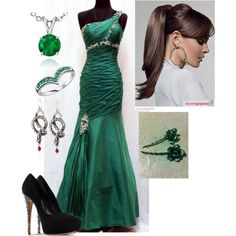 Slytherin Ball (: by hellokitting on Polyvore featuring polyvore, fashion, style, Casadei, Blue Nile, Shameless, Ice and clothing