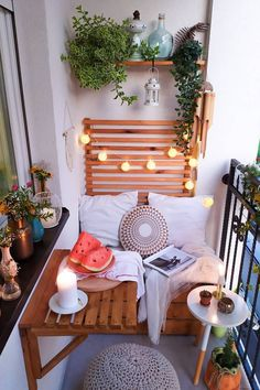 gorgeous 33 Spectacular Small Balcony Design Ideas With Lighting That So Awesome Small Balcony Design, Small Balcony Garden, Small Balcony Decor, Outdoor Balcony, Small Patio, Balcony Ideas, Outdoor Decor, Small Balcony Furniture, Small Balconies