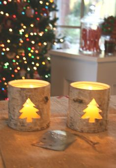 birch bark candles would be cute with a moose cut out for farm!