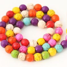 Colorful Kallaite Loose Beads DIY Accessories Materials Beads 20pcs/pack | WholePort.com