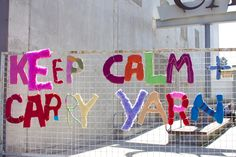 Yarn bombing this had to have a board all its own on for Craft workshops los angeles