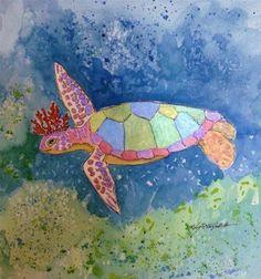 """Dreams of the Turtle King 13088"" - Original Fine Art for Sale - © Nancy Standlee"