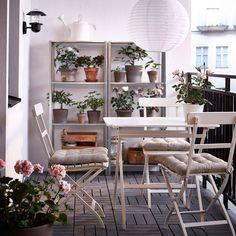 41 ideas apartment balcony ikea outdoor furniture for 2019 Ikea Outdoor, Small Outdoor Spaces, Outdoor Living, Outdoor Decor, Small Spaces, Outdoor Plants, Outdoor Furniture Small Space, Outdoor Ideas, Terrasse Design