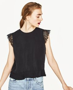 CROPPED TOP WITH OPEN BACK-View All-TOPS-WOMAN | ZARA United States