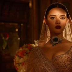 Whenever I have to design evening wear, I take refuge in old cinema. The the and the have been eras that I constantly revisit. Indian Bridal Fashion, Indian Wedding Jewelry, Bridal Jewelry, Bridal Looks, Bridal Style, Indian Dresses, Indian Outfits, Bridal Lehenga, Lehenga Choli