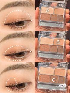 Soft Eye Makeup, Korean Eye Makeup, Korea Makeup, Makeup Eye Looks, Eye Makeup Art, Simple Makeup, Kawaii Makeup, Cute Makeup, Ulzzang Makeup Tutorial