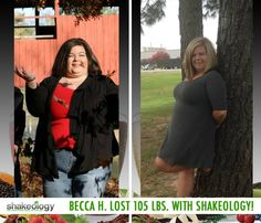 "Beeca H. lost 105 lbs. while working out and drinking Shakeology! In her Shakeology review, she said: ""I believe Shakeology has done so much for me. It has given me so much more energy and I don't get as run down as easy like before. With all the vitamins and nutrients, it has been my breakfast every morning for a year now and it has helped me with my eating habits."" #ShakeologyResults http://www.onesteptoweightloss.com/shakeology-review"