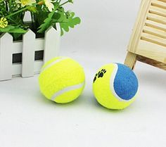 EWINR 2 Pcs Dog Pet Toy Tennis Sports Training Ball Medium *** Details can be found by clicking on the image.