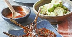 Try this easy recipe for a Korean bbq at home. Lamb chops marinated in a sweet-sour sauce, then grilled and served with spicy cucumber salad and chilli sauce.