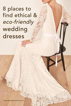 Zero Waste Wedding Dresses - Going Zero Waste Stunning Wedding Dresses, Designer Wedding Dresses, Going Zero Waste, Open Back Wedding Dress, Lace Wedding, Dream Wedding, Diy Wedding Dress, Wedding Veil, Spring Wedding