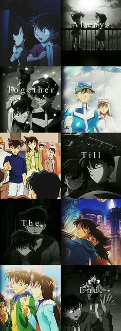 "Shinichi and Ran, through the years. Their ""end"" signifies a new beginning, and their eventual reunion is still not guaranteed!"