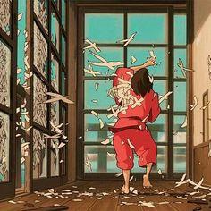 """Mi piace"": 8,082, commenti: 34 - Studio Ghibli (@ghibli.ghibli) su Instagram: ""I love this scene . . #spiritedaway #studioghibli"""