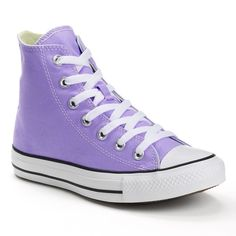 Adult Converse All Star Chuck Taylor High-Top Sneakers, Size: M8W10, Lt Purple