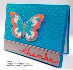 Cardbomb: WWYS #24: Watercolor Wings Maria Willis www.cardbomb.blogspot.com #WWYS24, Stampin' Up!, Bold Butterfy Thinlits