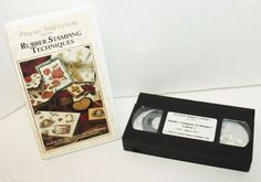 PERSONAL STAMP EXCHANGE RUBBER STAMPING TECHNIQUES  VHS VIDEO TAPE 1996 USED