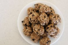 """Booby bites""...an energy snack for nursing moms and everyone else in the family! A delicious no-bake treat including oatmeal, flaxseed, and brewer's yeast."