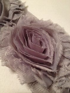 Grey Chiffon Flowers by MonAmiePaperie on Etsy, $5.44