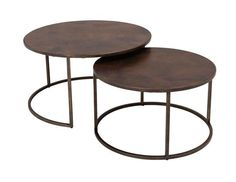 Copper-Top Nesting Coffee Tables
