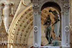 La Cathédrale Saint-Jean : #Lyon, France - sculpture group of The #Baptism of Christ