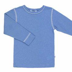 0dc61205caa Blå langærmet bluse i sommeruld   Joha   uldbørn.dk   uldbørn Sommer,  Sweatere