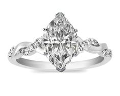 Love the setting- not a big fan of marquise diamonds though.