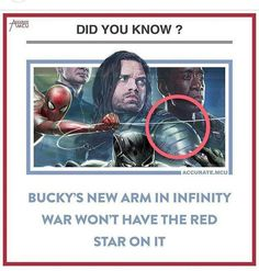 <><> I'd hope not, seeing as the red star = Communist Russia. What'd be awesome is if his new arm is made of vibranium!