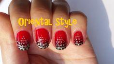 Easy Oriental Nail Art by KaroNails