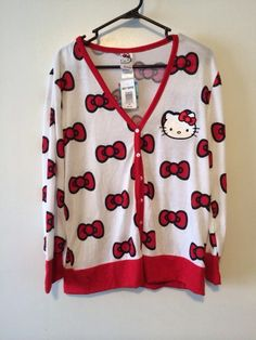 e75c10359 Hello Kitty Hottopic Cardigan Size Xxl Nwt Hello Kitty Clothes, Princess  Kitty, Cute Little