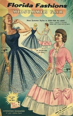 Vintage Chic (Posts tagged 1950s fashion) 50s Vintage, Vintage Dresses, Vintage Style, Vintage Ladies, 1950s Fashion, Vintage Fashion, Florida Fashion, Fashion History, Art Inspo