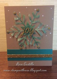 Stampin' Up! demonstrator Rose C's project showing a fun alternate use for the Watercolor Winter Simply Created Card Kit.