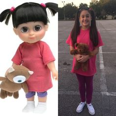 "Last minute costume for ""Animation"" themed school dance. Boo from Monsters Inc. Turned out so cute for Halloween!"