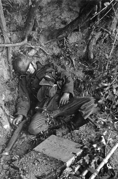 A German casualty on D-Day; France - 6 June 1944. Photo by Bob Landry for LIFE Magazine