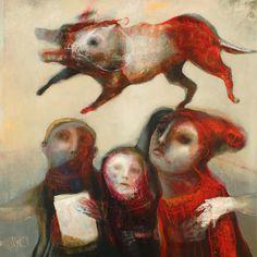 """SylC - Contemporary Artist - Série """"La Ronde des Chiens Fous"""" - Ronde 11"""