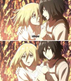 Mikasa, Armin, Attack On Titan Season, Attack On Titan Ships, Attack On Titan Anime, Anime Girlxgirl, Yuri Anime, Anime Art, Christa Renz