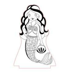 Mermaid led lamp plan vector file for CNC - 3bee-studio