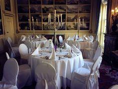 Weddingdinner at Kasteel Keukenhof | Keukenhof Castle - The Netherlands.   http://www.kasteelkeukenhof.nl