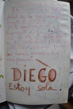 Una página del diario de Frida