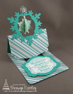 addINKtive designs: Christmas Workshop Make 'n' Take - Flying Easel Gift Card Holder