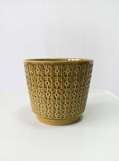Vintage Jasba Keramik Mustard Yellow Modernist by WestEstShop