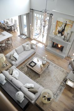 New Living Room Sofa Arrangement Layout Coffee Tables Ideas Transitional Living Rooms, Large Living Room, Room Design, House Interior, Living Room Decor, Living Room Arrangements, Trendy Living Rooms, Livingroom Layout, Living Room With Fireplace
