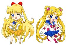 Sailor Venus and Sailor Moon