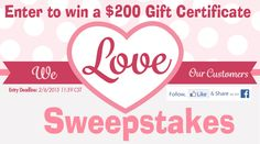 Great sweepstakes from One Step Ahead! Win a $200 GC!