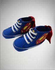 Superman Caped Infant Hi Top Shoes