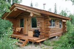 cozy little log home  ~ Great pin! For Oahu architectural design visit http://ownerbuiltdesign.com