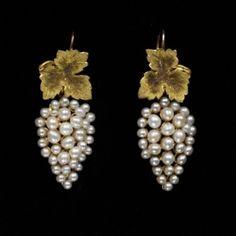 Earrings ca. 1850 via The Victoria & Albert Museum by sheryl