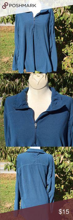 Eddie Bauer Lightweight Pullover Shirt Jacket Super gently preowned. 100% polyester. Size XXL Eddie Bauer Tops