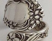 Size 9  Vintage Sterling Silver Gorham Spoon Ring