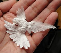 3d paper hummingbird