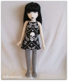 Handmade fashion for Emily the Strange doll. Available: http://www.dolls4emma.com