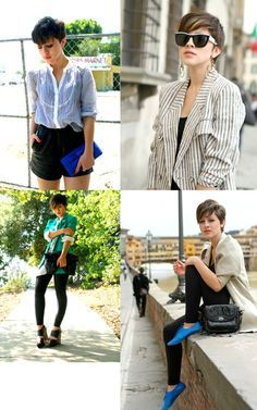 what to wear with a pixie cut - Google Search